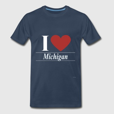 Sam I Love Michigan - Men's Premium T-Shirt