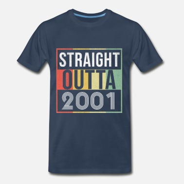 17 Years Old Straight Outta 2001 - Men's Premium T-Shirt