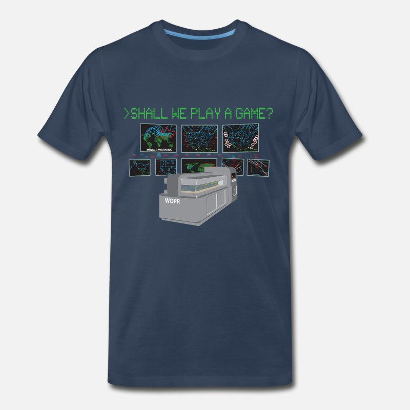 Games T-Shirts - War Games W.O.P.R. Tee - Men's Premium T-Shirt navy