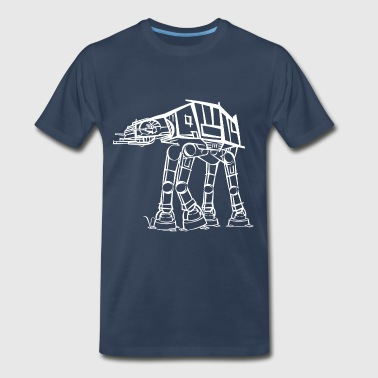 AT-AT Imperial Walker [Artist Rendering 2] - Men's Premium T-Shirt