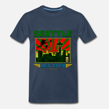 Jet City SEATTLE - JET CITY - Men's Premium T-Shirt