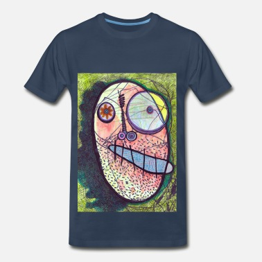 Radical Face F is for Face -Navy - Men's Premium T-Shirt