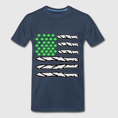 Pot Nation Flag  - Men's Premium T-Shirt