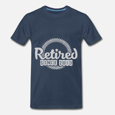 Retired Since 2013 2013 45.png - Men's Premium T-Shirt