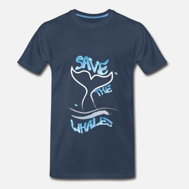 Save A Whale Whales - Save the whales - Men's Premium T-Shirt