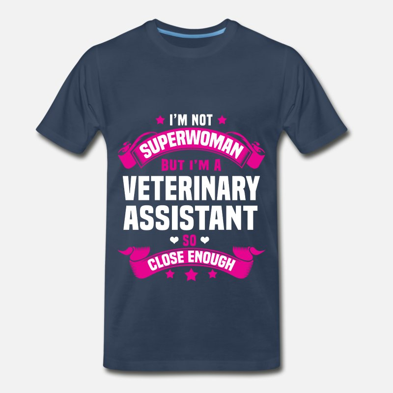 Veterinary Assistant T-Shirts - Veterinary Assistant - Men's Premium T-Shirt navy