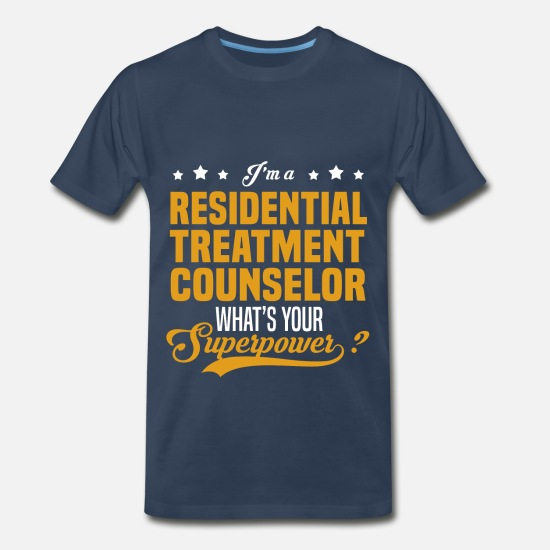 Superpower T-Shirts - Residential Treatment Counselor - Men's Premium T-Shirt navy