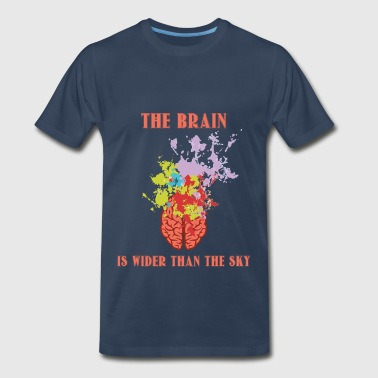 Brain - The brain is wider than the sky - Men's Premium T-Shirt