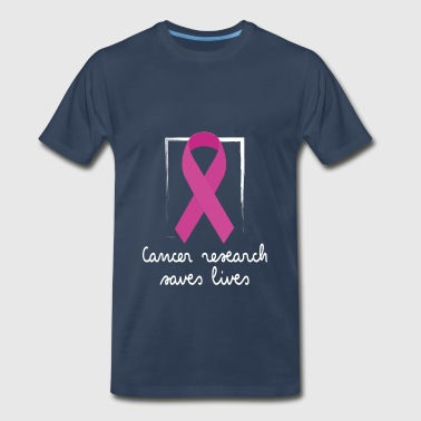 Living With Cancer Cancer - Cancer research saves lives - Men's Premium T-Shirt