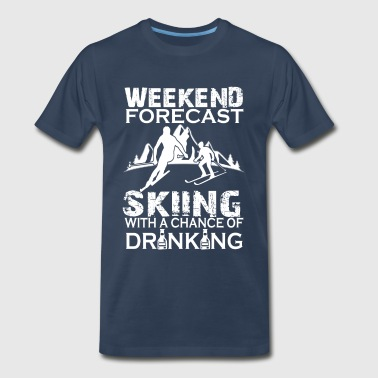 WEEKEND FORECAST SKIING  - Men's Premium T-Shirt