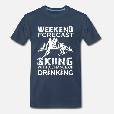 Skidor WEEKEND FORECAST SKIING  - Men's Premium T-Shirt
