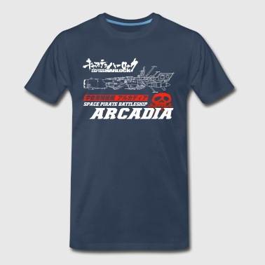 Captain Harlock Space Battleship Arcadia - Men's Premium T-Shirt