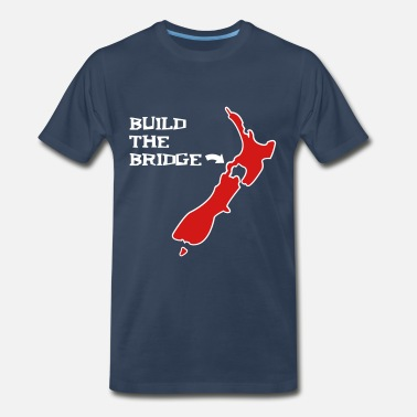 Island Countires Bridge New Zealand t-shirts - Men's Premium T-Shirt