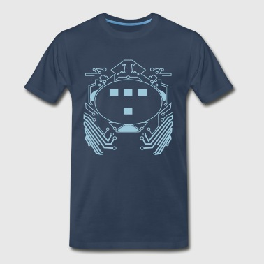 Flex Graphic Flex Design Retro 80s Tron Flex Print Design - Men's Premium T-Shirt