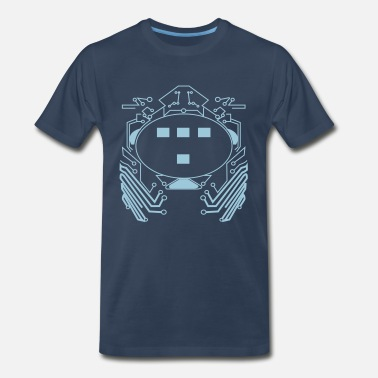 Flex Print Flex Retro 80s Tron Flex Print Design - Men's Premium T-Shirt