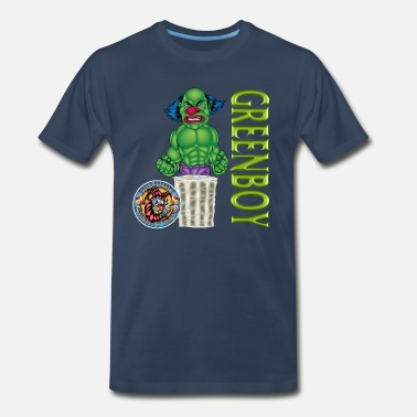 Oscar The Grouch Evil Clown Grouch - Men's Premium T-Shirt