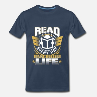 Wonder Bread National librarian week-Read every day t-shirt - Men's Premium T-Shirt