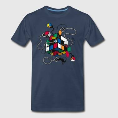 Rubik's Cube Illustrated - Men's Premium T-Shirt