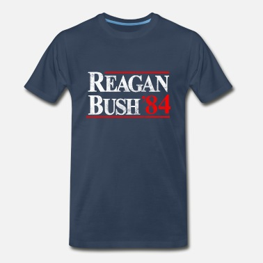 Template Presidential Election Reagan Bush '84 - Men's Premium T-Shirt
