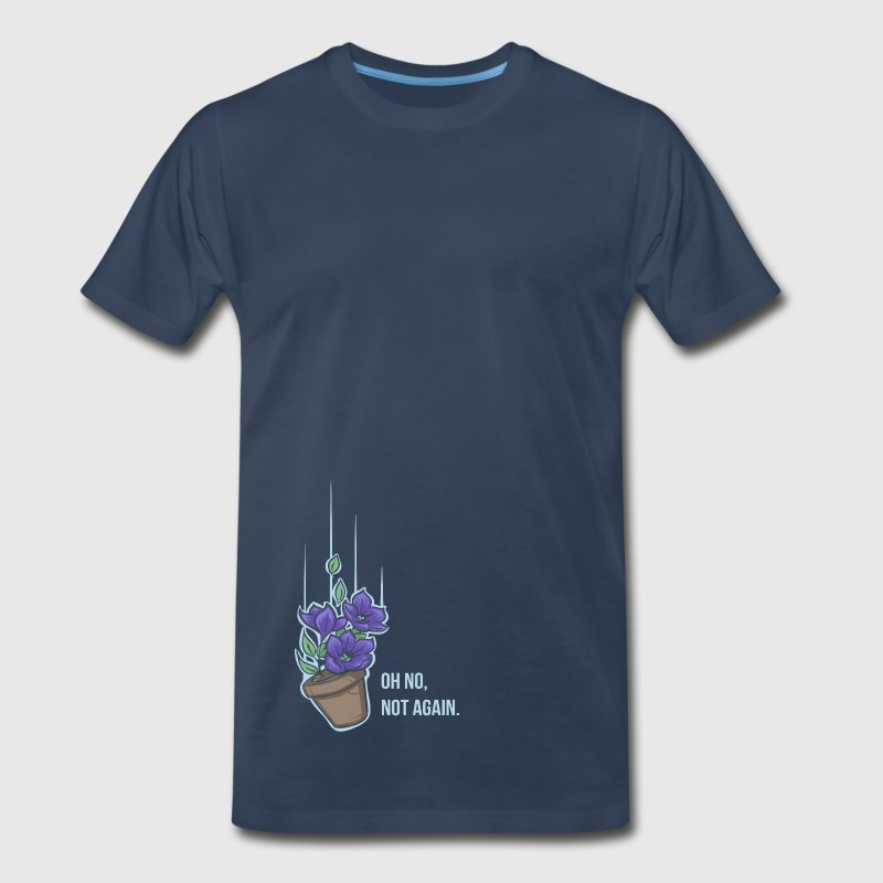 Thoughts of a falling bowl of petunias - Men's Premium T-Shirt