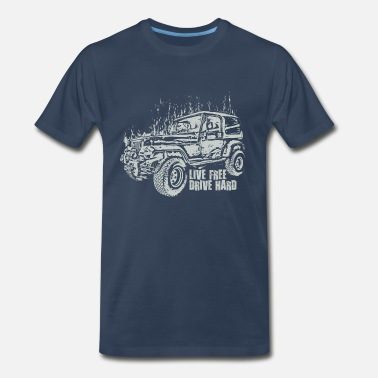 Hard Drive Jeep Wrangler Drive Hard - Men's Premium T-Shirt