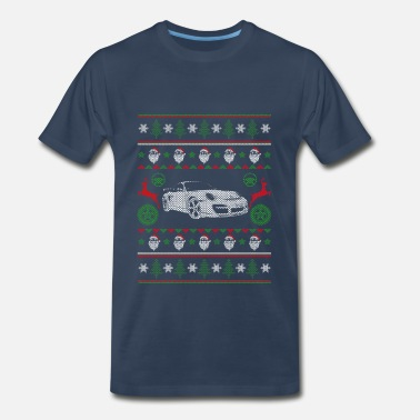 Caricature Sports Car-Awesome sport car christmas sweater - Men's Premium T-Shirt