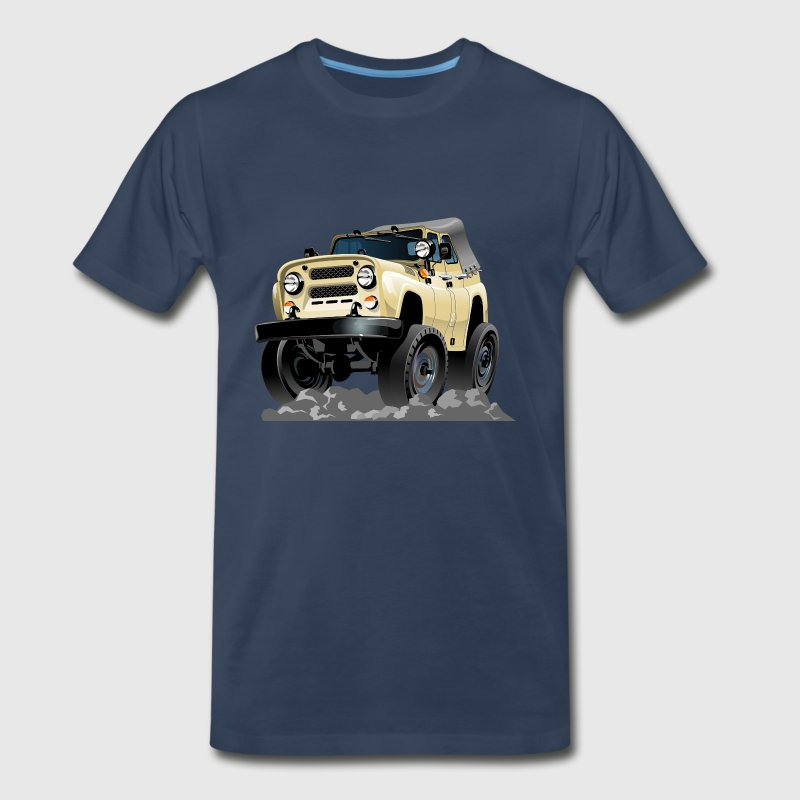jeep funny on earth russian uaz - Men's Premium T-Shirt