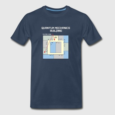 Mechanical Designer Colorful Quantum Building White Text - Men's Premium T-Shirt