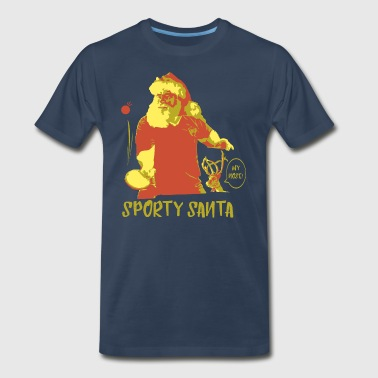 Funny Christmas Designs for Table Tennis Player - Men's Premium T-Shirt