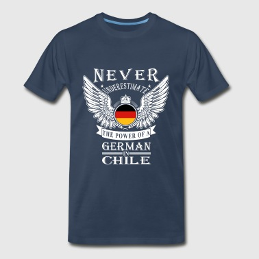 German Beer German-The power of a German in Chile tee - Men's Premium T-Shirt