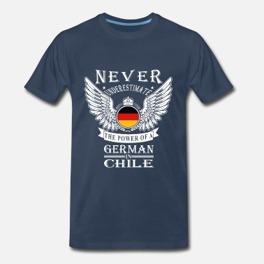 German Wife German-The power of a German in Chile tee - Men's Premium T-Shirt