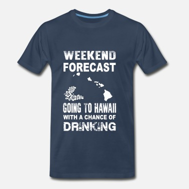 Motif Surfboard Weekend forecast-Going to hawaii to drink - Men's Premium T-Shirt