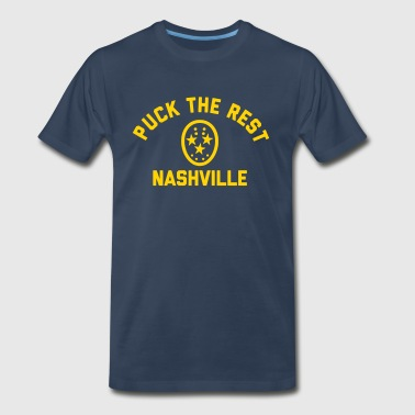 Smashville Hockey Puck the Rest Nashville - Men's Premium T-Shirt
