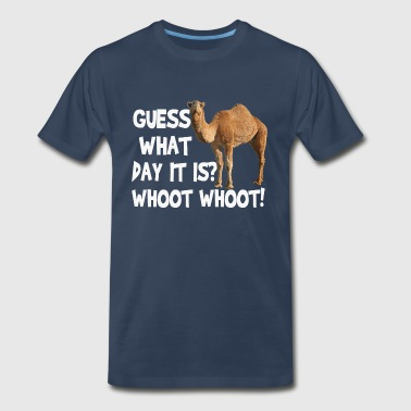 Hump Day Camel Guess What Day It Is (white) - Men's Premium T-Shirt