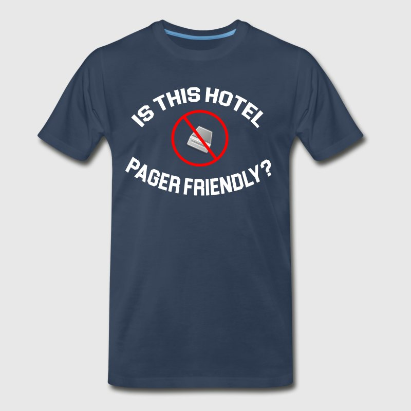 The Hangover - Is This Hotel Pager Friendly - Men's Premium T-Shirt