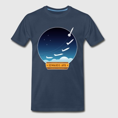 Space X Edwards Air Force Base - yellow and brown logo - Men's Premium T-Shirt