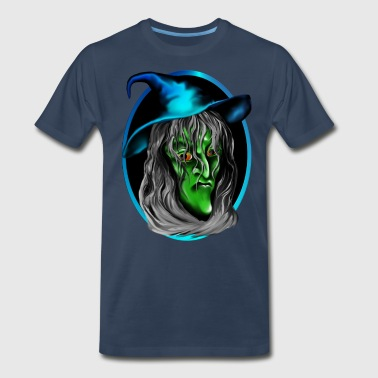 Nasty Witches Green Witch Face - Men's Premium T-Shirt