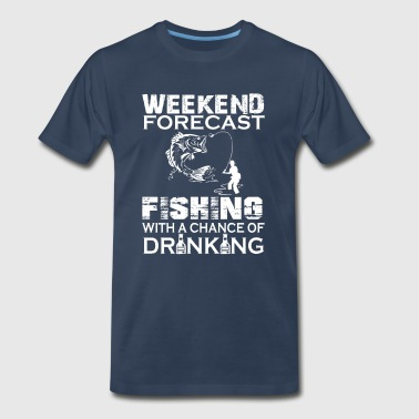 weekend forecast fishing - Men's Premium T-Shirt