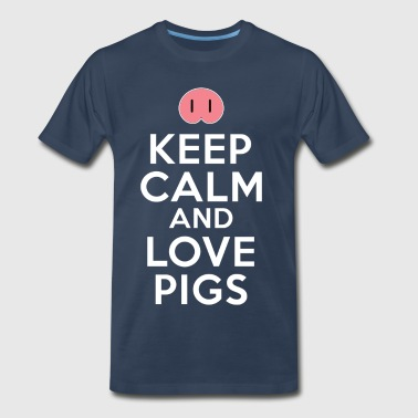 Keep Calm And Love Pigs - Men's Premium T-Shirt