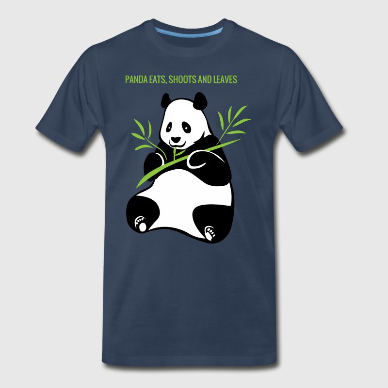 PANDA EATS, SHOOTS AND LEAVES - Men's Premium T-Shirt