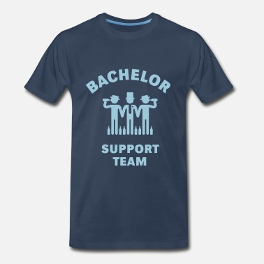 Funny Sayings Bachelor Party Bachelor Support Team (Stag Party) - Men's Premium T-Shirt