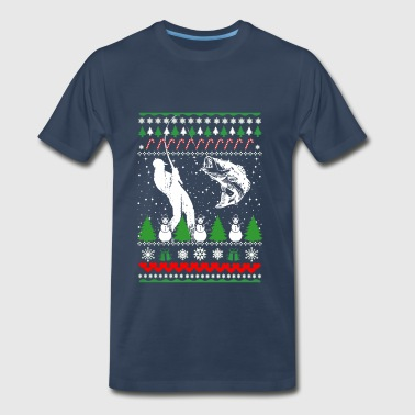 Fisher-Fisher Christmas ugly sweater for fisher - Men's Premium T-Shirt