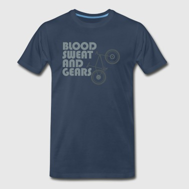 Bike blood sweat & gears - Men's Premium T-Shirt