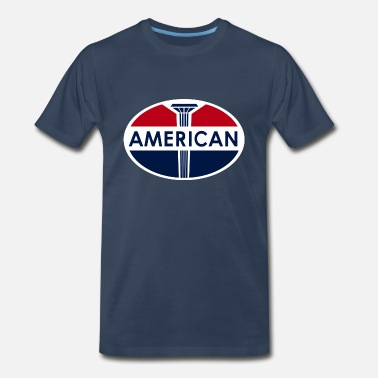 Oil American Gas Station sign. Flat and clean version - Men's Premium T-Shirt
