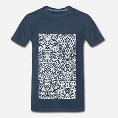 T-keith-haring wall art - white - Men's Premium T-Shirt