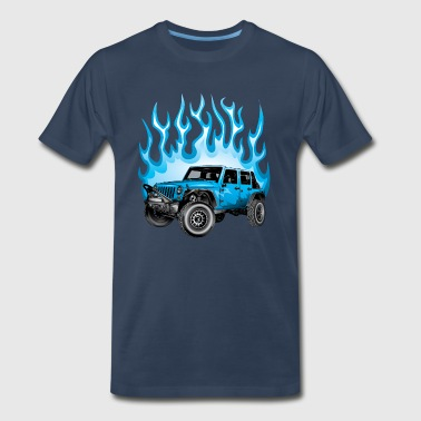 Jeep Wrangler Blue Flame - Men's Premium T-Shirt