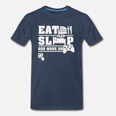 God Mode Eat Sleep Xbox - Men's Premium T-Shirt