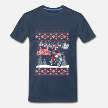 Biker Christmas Biker Christmas Sweater - Men's Premium T-Shirt
