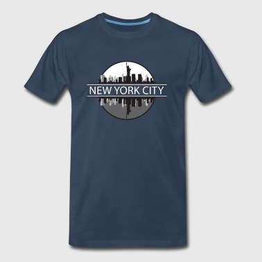 New York City New York Skyline New York City New York - Men's Premium T-Shirt
