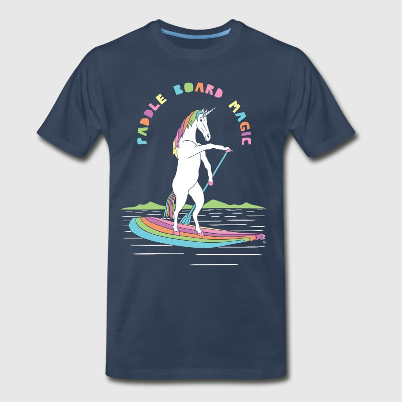 Paddle Board Unicorn Magic - Men's Premium T-Shirt